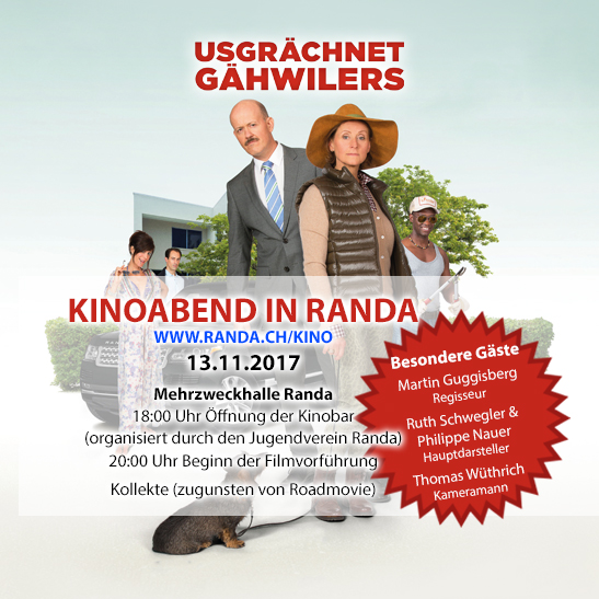 "Roadmovie in Randa | ""Usgrächnet Gähwiler"""