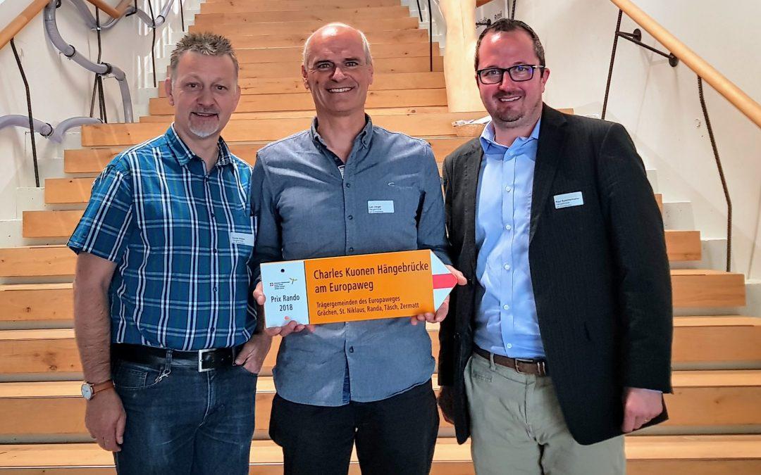 Prix Rando für Charles Kuonen Hängebrücke