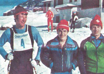 Die siegreiche Junioren- Staffel mit Helmuth Imwinkelried, Erwin Imoberdorf und Christian Imboden.