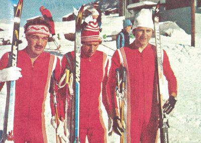 Die siegreiche Staffel mit Markus Anthenien, Elmar Chastonay und Armin Jost.